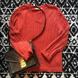 Croft & Barrow Burnt Orange Knit Sweater